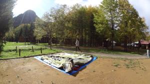普通の定山渓自然の村キャンプ場
