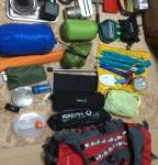 私のソロキャンプ装備とバックパック(沖縄キャンプ遠征仕様)