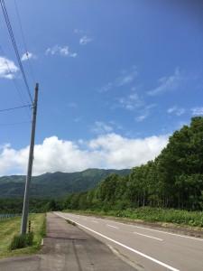 鶴沼公園キャンプ場への道