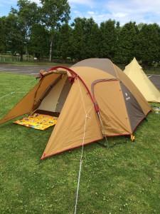 鶴沼公園キャンプ場でsnow peakのアメニティドームを設営