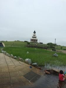 新篠津村キャンプ場の展望台