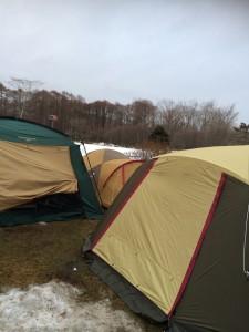 苫小牧アルテンキャンプ場で冬キャンプ