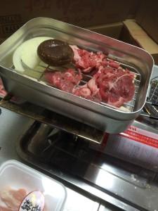 メスティンでモンゴル風ヘルシー蒸しラム料理