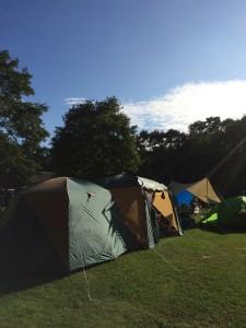 苫小牧アルテンキャンプ場のセミオートテントサイト