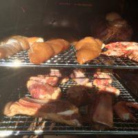 鶏ササミ肉燻製の熱燻温度