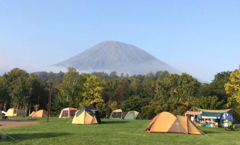 羊蹄山が見える京極スリーユーパークキャンプ場