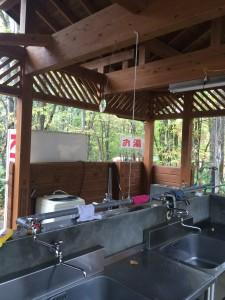 古山貯水池オートキャンプ場の炊事場