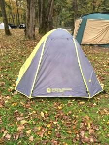 古山貯水池オートキャンプ場の秋キャンプをドッペルギャンガーで過ごした