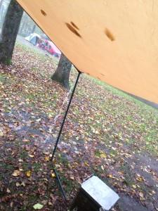 大雨のキャンプ