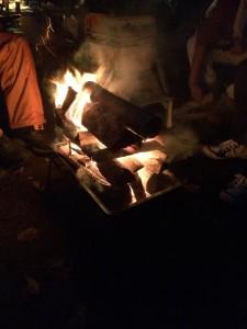 古山貯水池オートキャンプ場は焚き火できます!