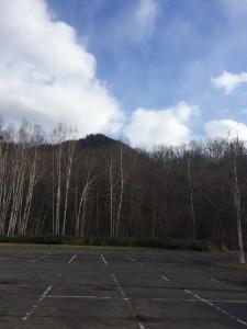 定山渓自然の村キャンプ場の駐車場