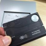 女性にも!カードサイズマルチツールVICTORINOXスイスカードライトT3