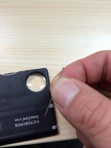 ヴィクトリノックススイスカードライトの虫ピン