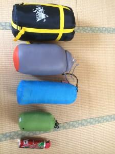 寝袋の収納性比較
