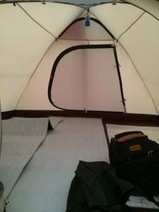 snow peakのアメニティドームは寝室が広い!