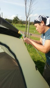 snow peakのアメニティドームを建てれば、テントの建て方をマスターできる