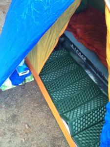 EVAフォームマットをインナーマットとしてテントに敷いてみる