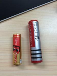 18650電池と単3電池の違い