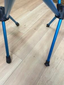 ヘリノックスとG4freeの地面との接地面の足の部分