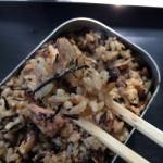 キャンプ飯!メスティンで簡単で手抜き(笑)鯖の炊き込みご飯レシピ