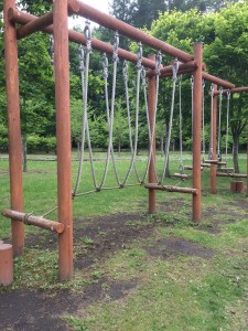 北海道安平町鹿公園のキャンプ場にある遊具