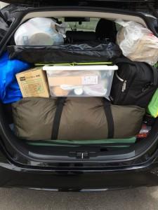 フィットにキャンプ道具はどこまで積めるか