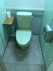 岩尾内湖白樺キャンプ場のトイレは洋式