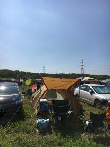 ライジング・サン2016オートキャンプサイトで2泊した