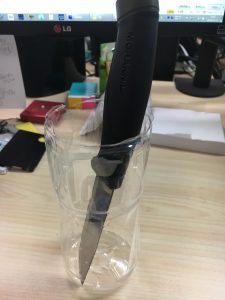 モーラナイフの黒錆加工