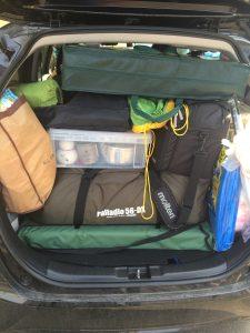 キャンプ道具満載