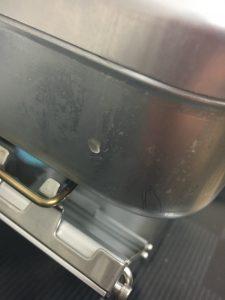 SOTOのGストーブは吹きこぼれてもテーブルが汚れにくい