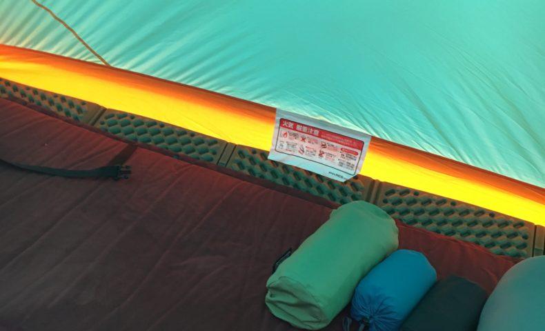 冬キャンプ仕様の寝床