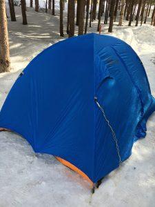 冬キャンプでダンロップアルパインテントVS30
