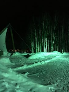 冬キャンプは幻想的