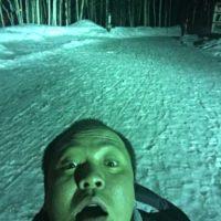 夜の定山渓自然の森