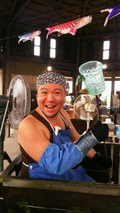 沖縄で琉球グラス体験してきたキャンプ王