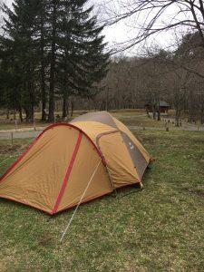 アメニティドームでソロキャンプ