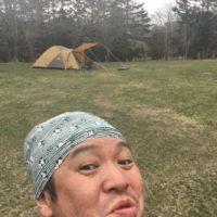 白老で自撮りのキャンプ王
