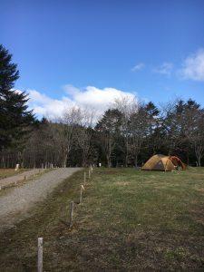 白老キャンプ場の朝