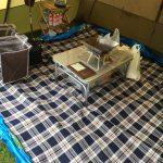 我が家族の親子3人お座敷ファミリーキャンプ道具一式Part1
