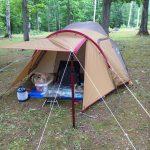 今年も岩尾内湖白樺キャンプ場で快適にアメニティドームソロキャンプ!
