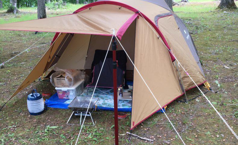 岩尾内湖白樺キャンプ場でソロキャンプ