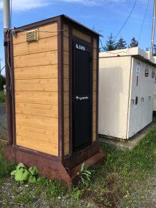 栗山さくらキャンプ場の仮設トイレ