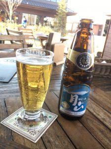 モンベルレストランでビール