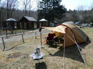 白老キャンプ場でソロキャンプ