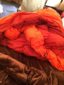 ロゴスプレミアムインナーシュラフを寝袋に入れてみた