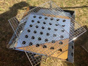 ユニフレームファイアーグリルに焼き網を載せてみた