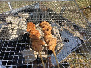 ユニフレームファイアーグリルで焼き鳥