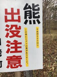 北海道白老のキャンプ場でのクマ出没