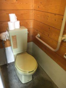ニセウ・エコランドキャンプ場のトイレは洋式トイレ